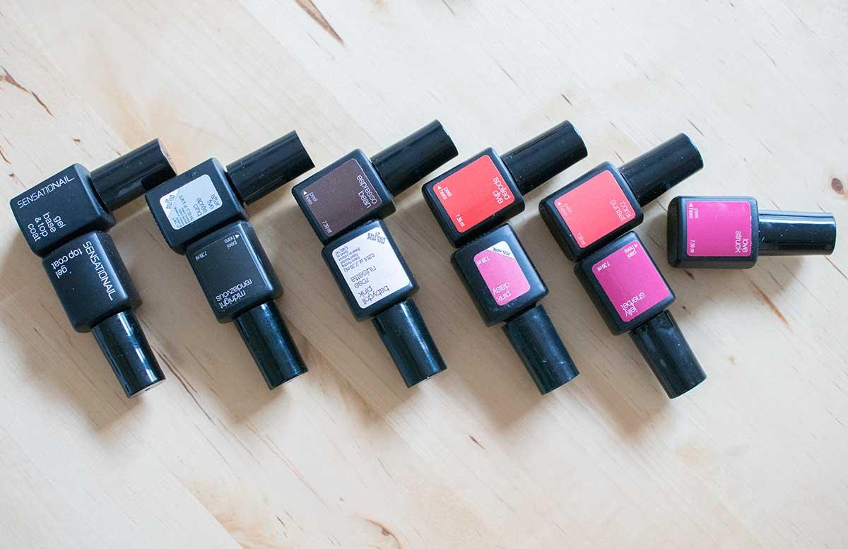 Sensationail Gel Starter Kit mit extra schneller Lampe nagellack farben