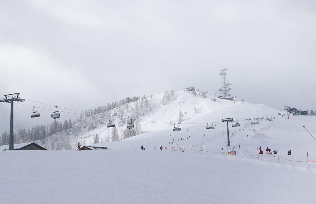 Skifahren im Salzburger Saalachtal im Familien-Skigebiet Lofer gondel