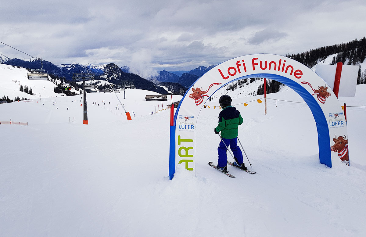 Skifahren im Salzburger Saalachtal im Familien-Skigebiet Lofer skischule herbst kurs