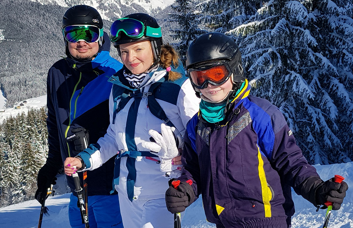 Skiregion-Dachstein-West-in-Gosau-familie