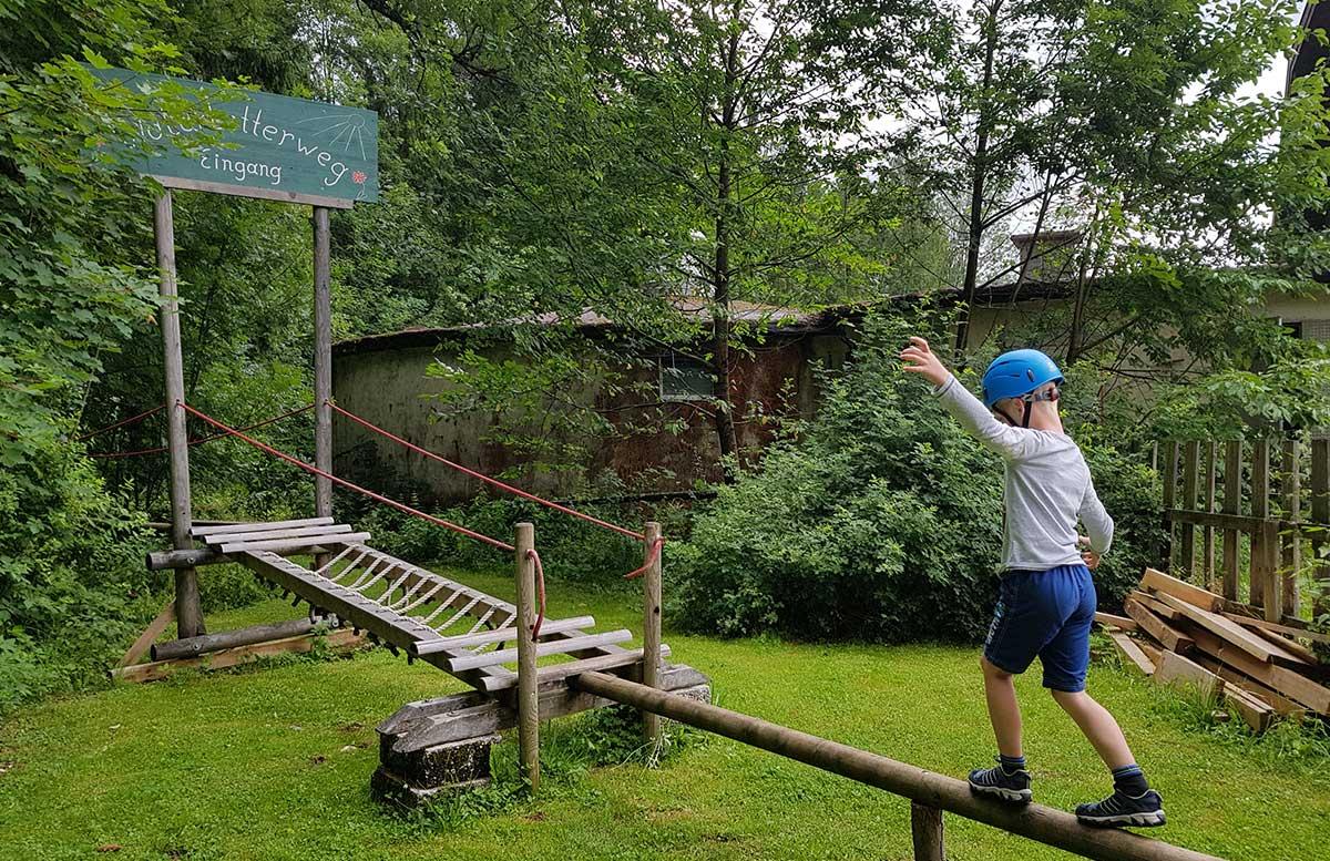 Sommerrodeln in Fuschl und der Waldkletterweg in Faistenau klettern kletterweg
