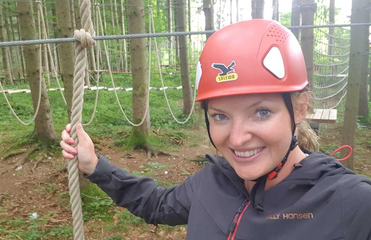 Sommerrodeln in Fuschl und der Waldkletterweg in Faistenau klettern vicky