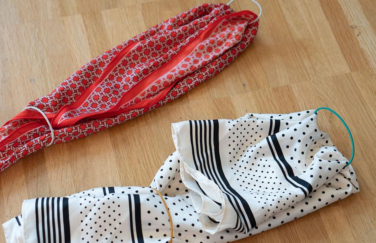 Stylische-Mundschutzmasken-ohne-Nähen-falten-tuch