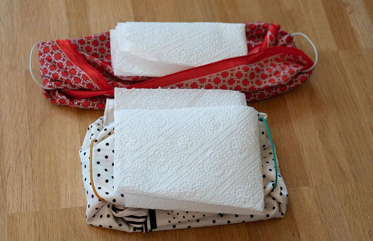 Stylische-Mundschutzmasken-ohne-Nähen-küchenrolle