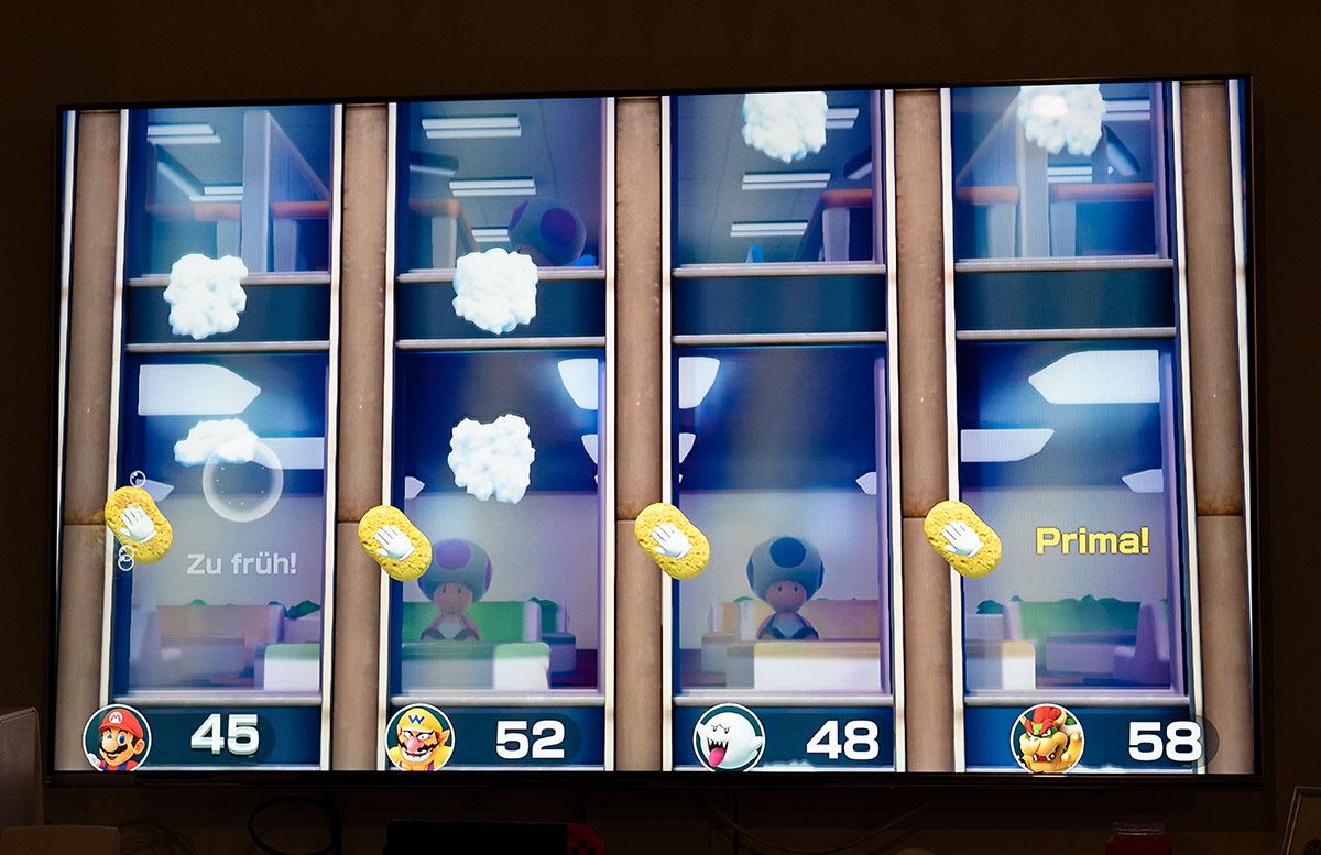 Super Mario Party für die Nintendo Switch fenster putzen 2