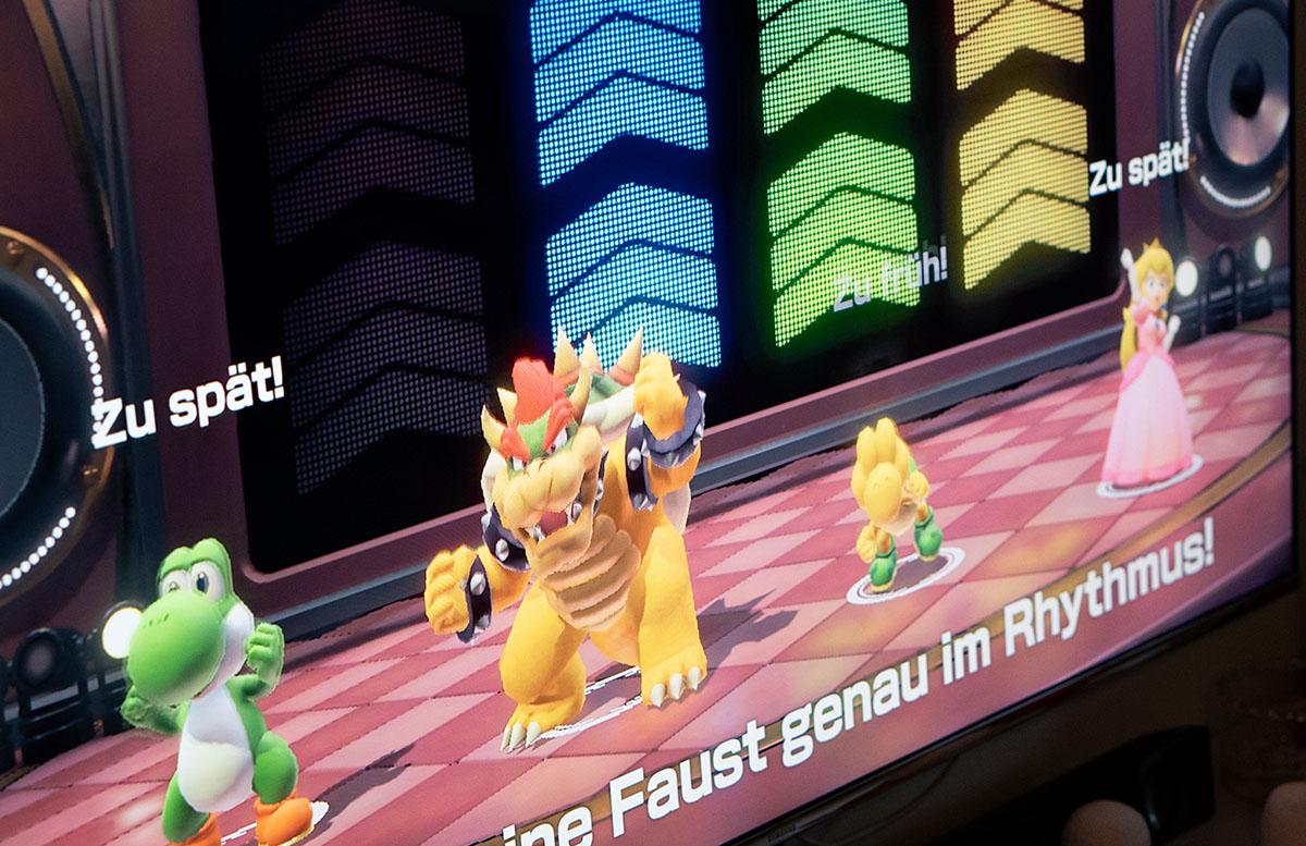 Super Mario Party für die Nintendo Switch party tanzen
