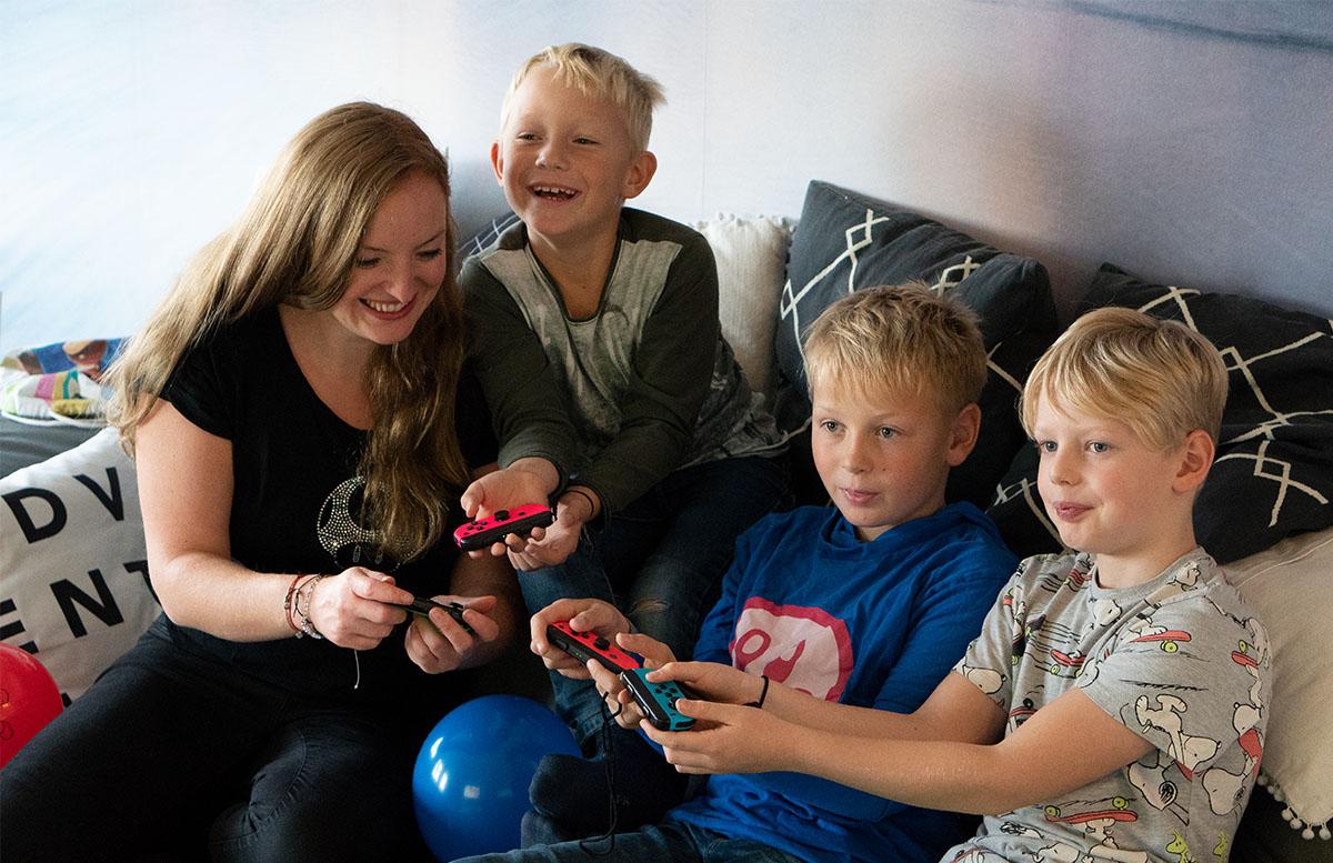 Super Mario Party für die Nintendo Switch mit den jungs