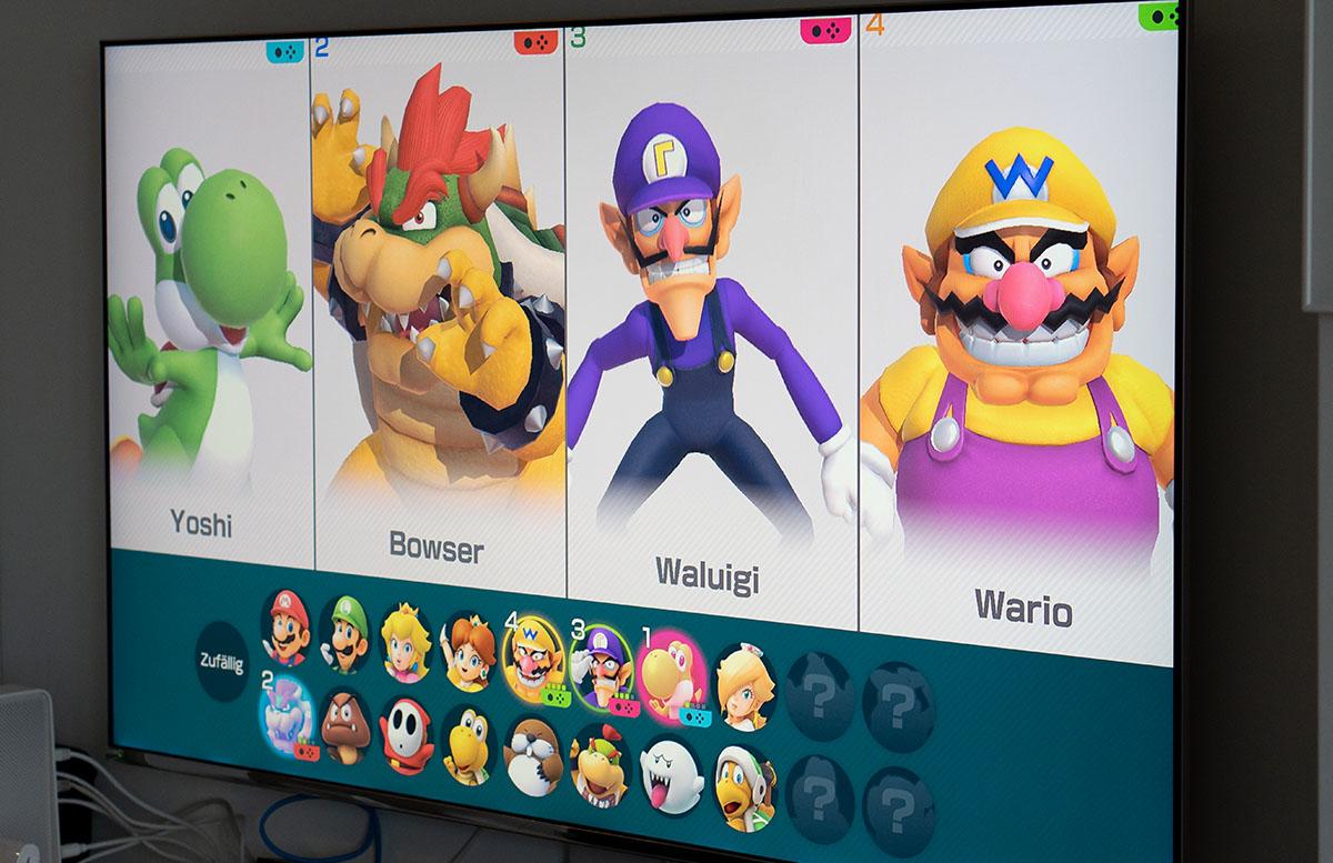 Super Mario Party für die Nintendo Switch mit den jungs charaktere