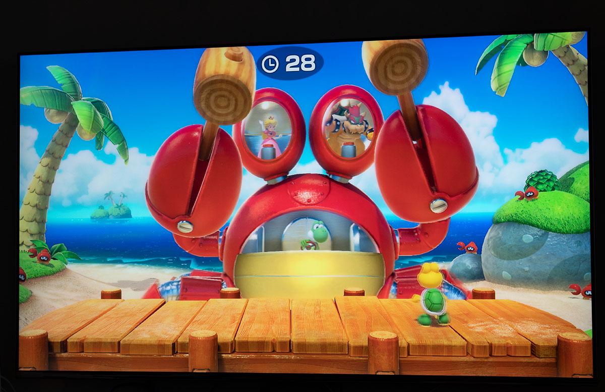 Super Mario Party für die Nintendo Switch zerquetschen