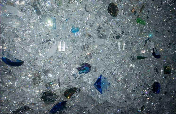 Swarovski-Kristallwelten-kristallwand-detail