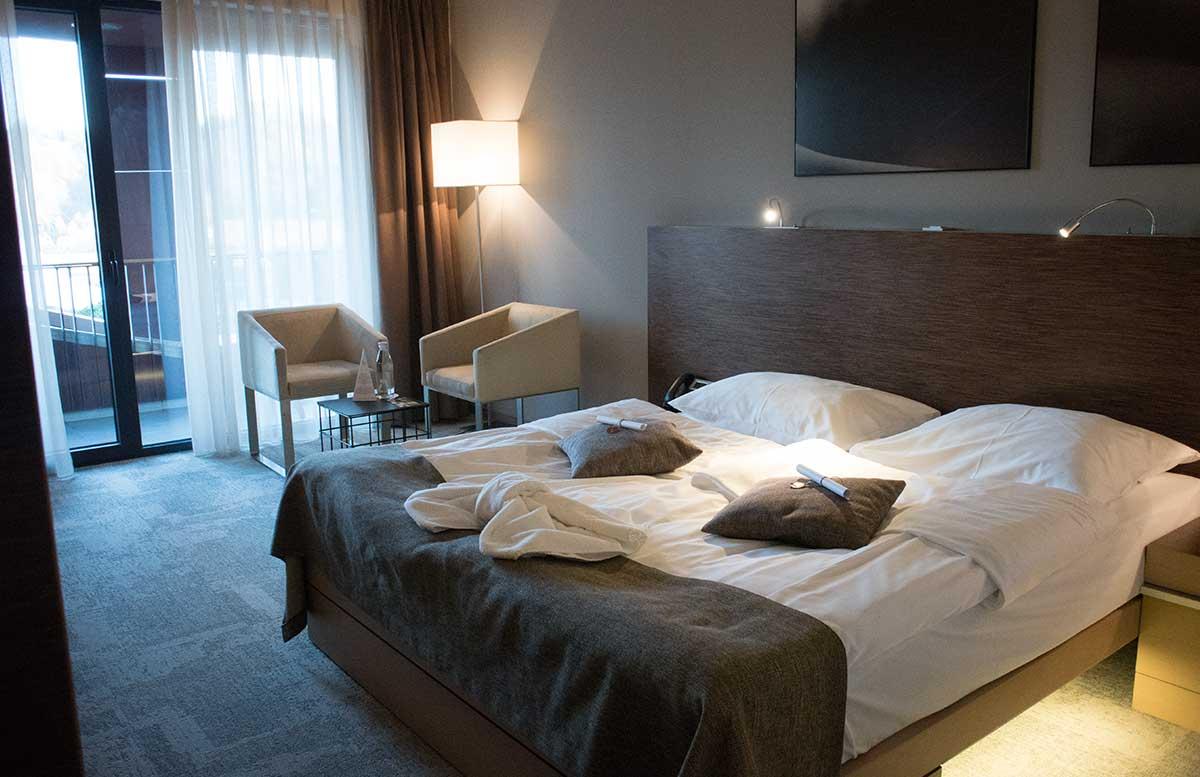 Wellness in Olimia und das Hotel Sotelia Hotelzimmer