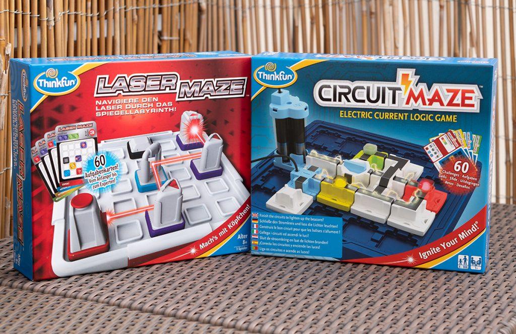 Thinkfun Laser Maze und Circuit Maze Logikspiele