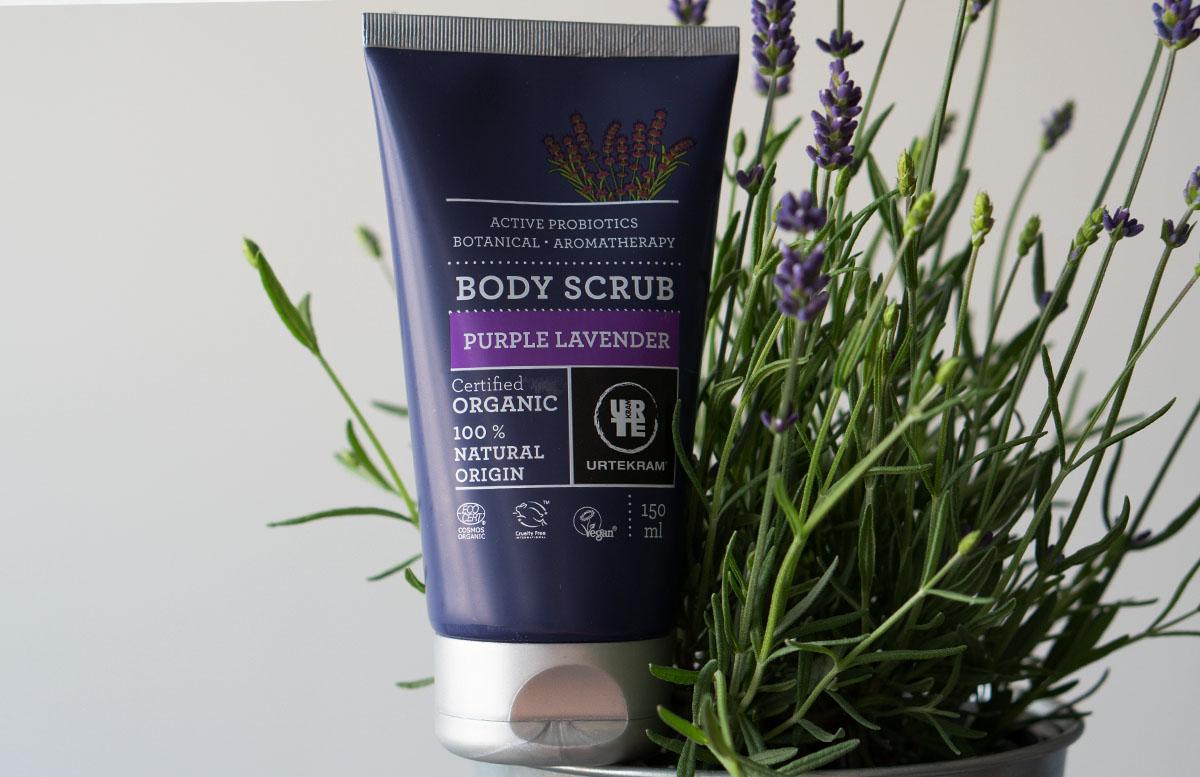 Urtekram Purple Lavender Bio Kosmetik Pflegelinie produkte body scrub