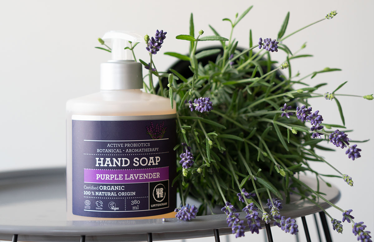 Urtekram Purple Lavender Bio Kosmetik Pflegelinie produkte hand seife