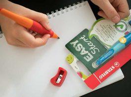 Vorbereitungen-für-die-Schule-mit-Stabilo-druck-bleistift