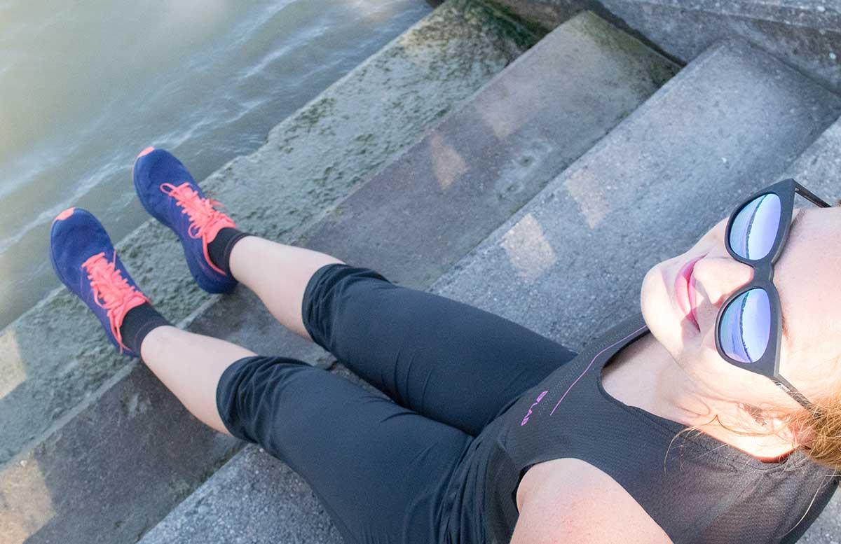 Wachau Marathon im Team Salomon schuhe wasser