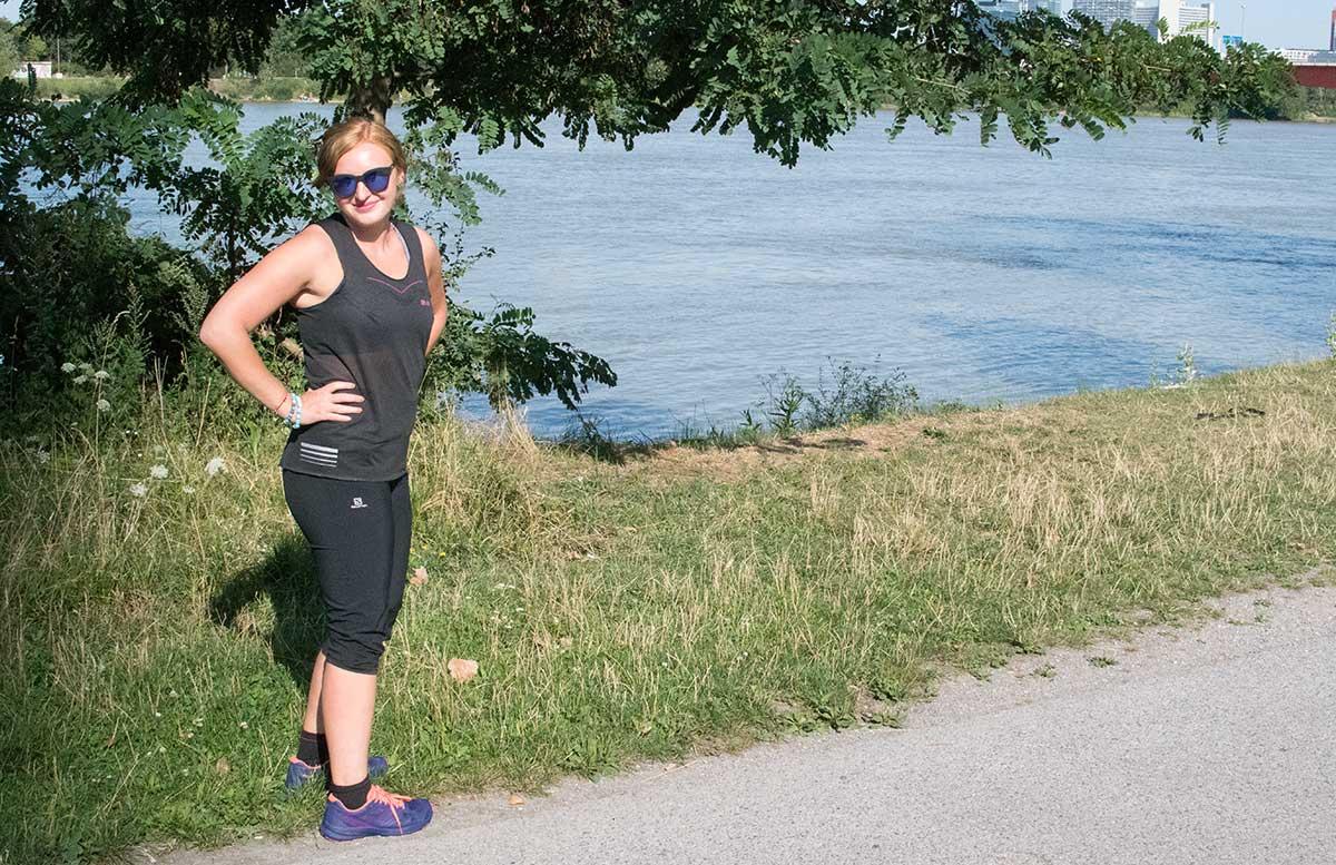 Wachau Marathon im Team Salomon stehend