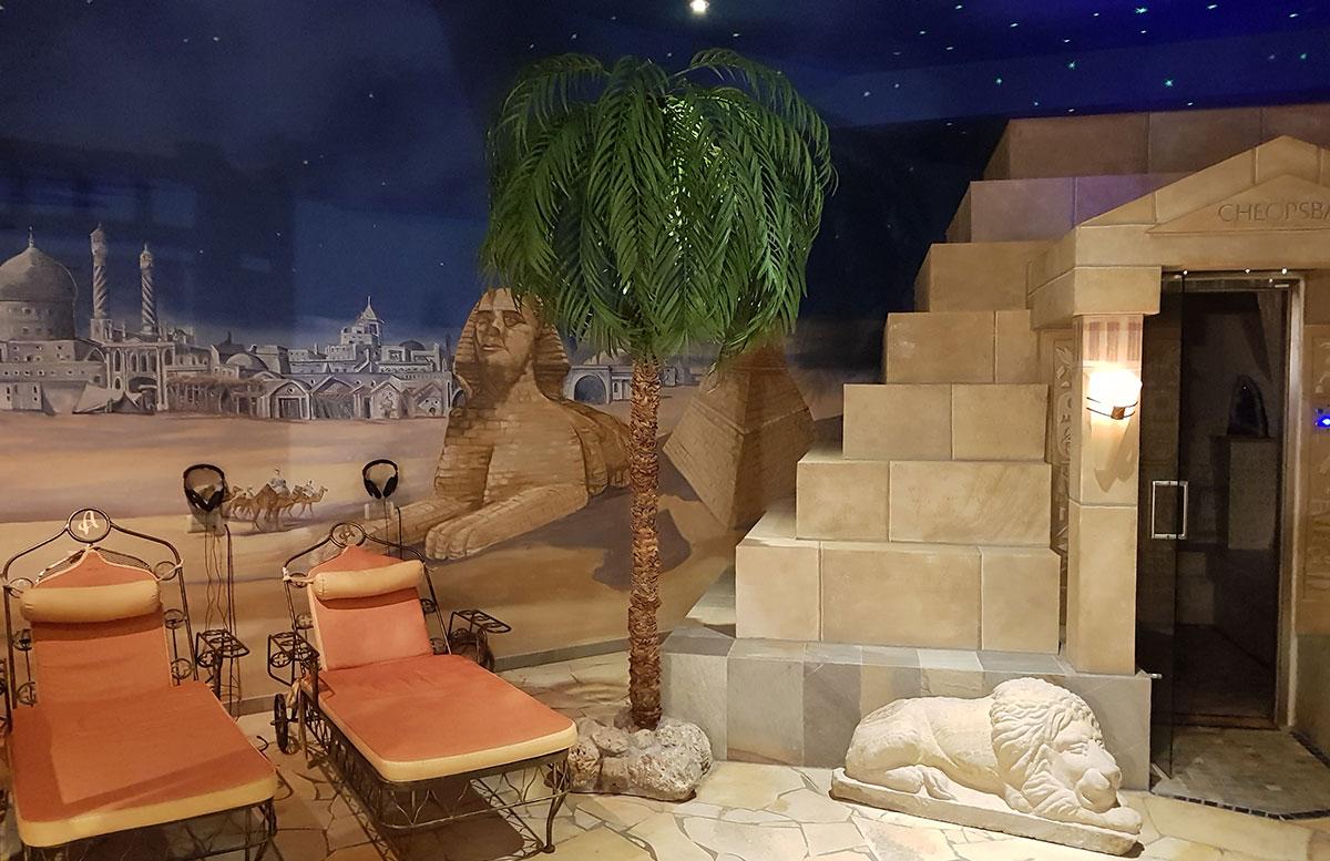 Walchhofer's Hotel Alpenhof in Filzmoos pool wellnessbereich dampfbad ägypten