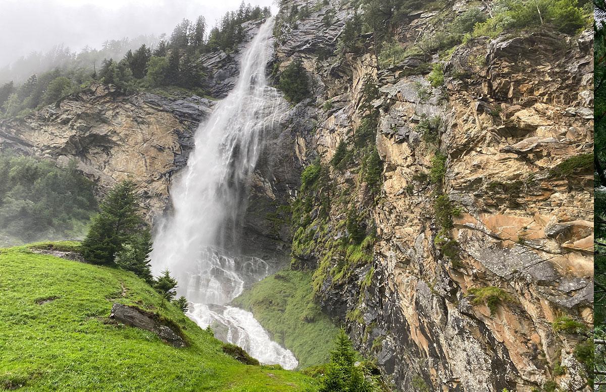 Wasserfälle-in-Malta-und-die-Staumauer-Kölnbreinsperre-wasser-im-felsen