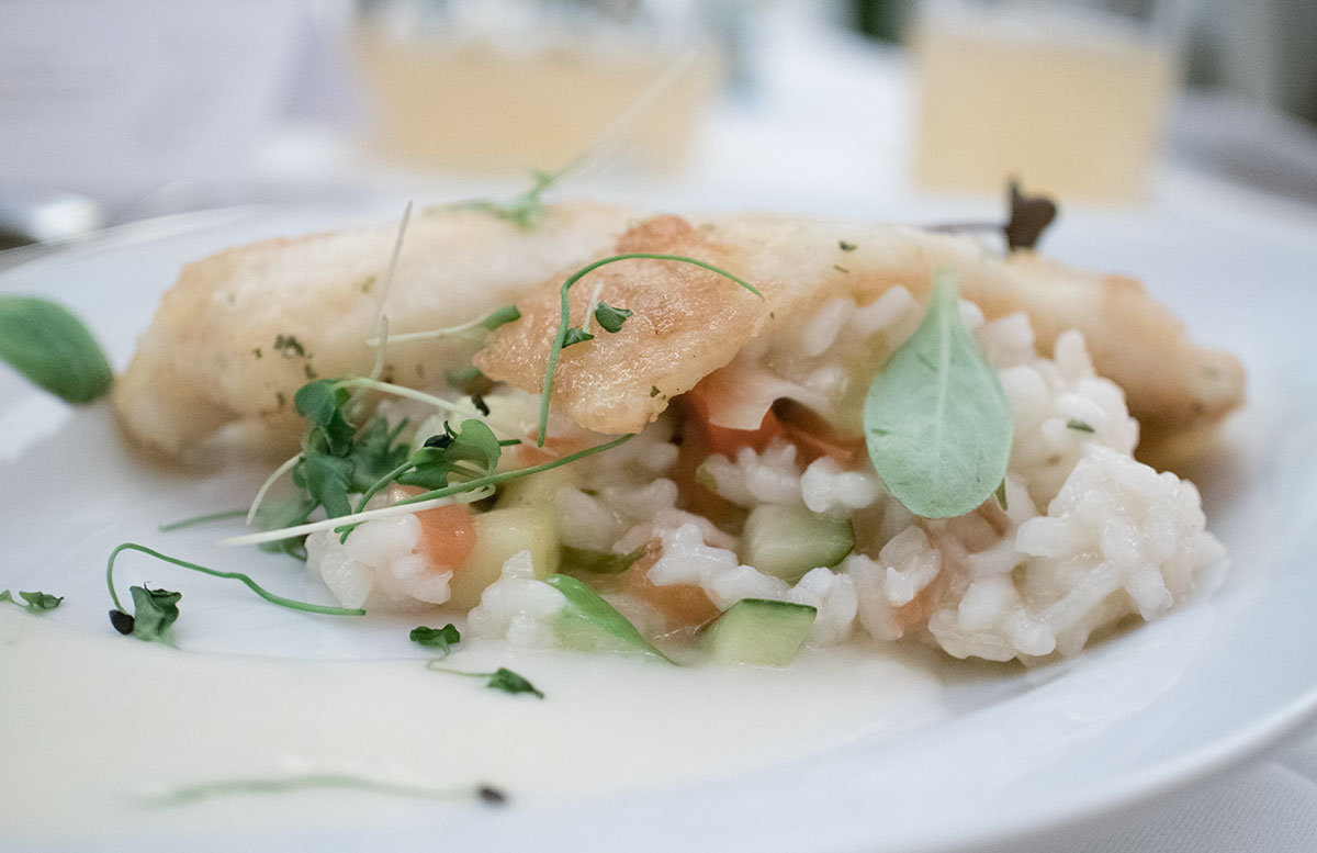 Wellness- und Thermenhotel Stoiser in Loipersdorf buffet fisch risotto