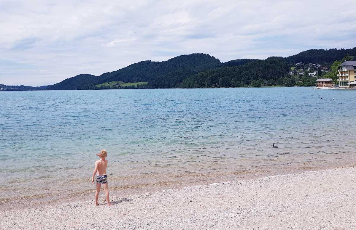 Zillenschifffahrt am Fuschlsee und das Schloss Fuschl strandabschnitt seebad