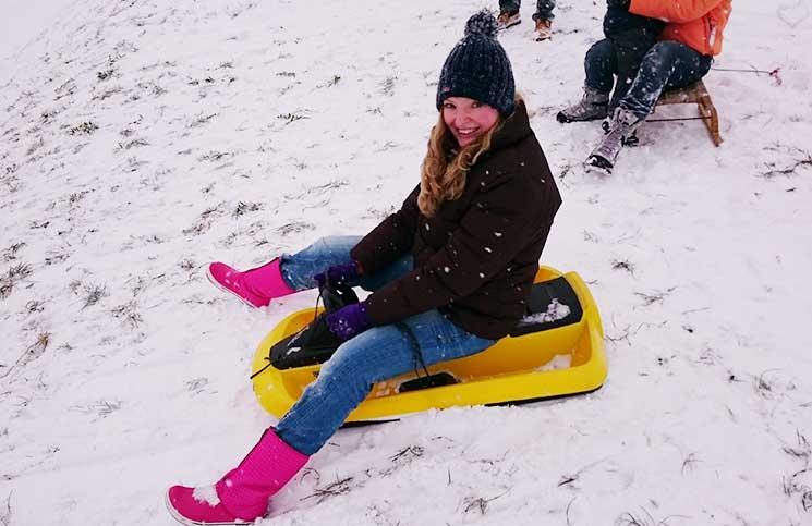 Viel Spaß und Schnee zu Weihnachten