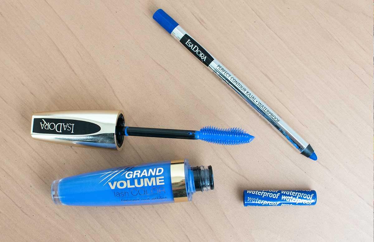 Blue velvet summer look mit Isadora wimpern blau produkte