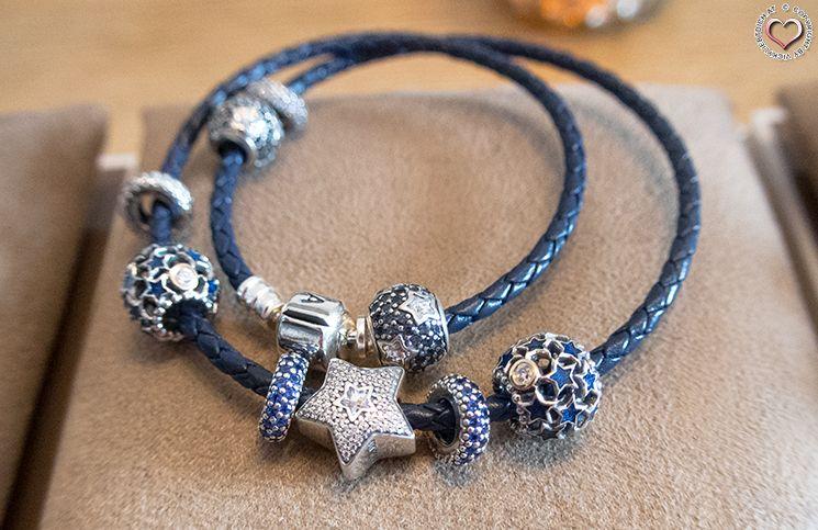 pandora lederen armband blauw