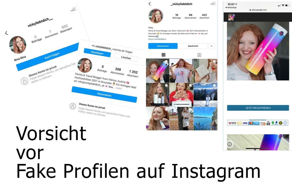 Fake Accounts und Fake Gewinnspiele auf Instagram