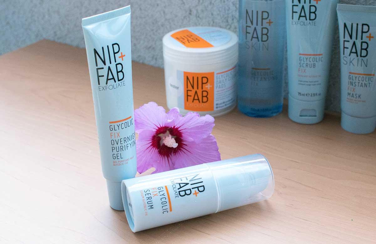 NIP+FAB-exfoliate-pflegeprodukte-overnight-purifying-gel-und-serum