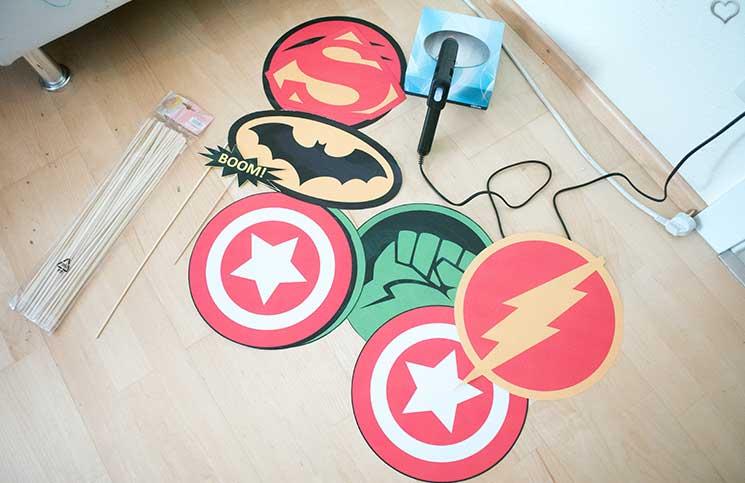 superheroes Kindergeburtstag-mit-der-Pixolino-Box-fotobooth-basteleien-superheroes
