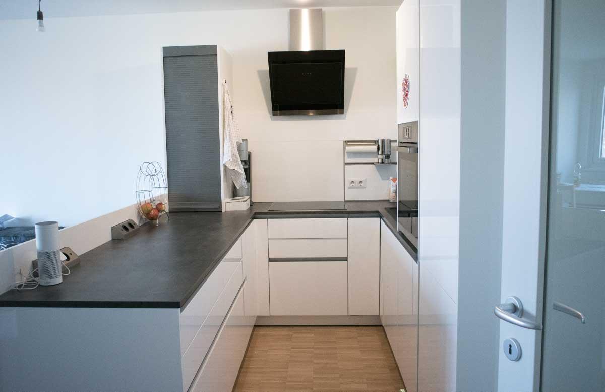 unsere neue Wohnung Wohnzimmer und K  che k  chenbereich